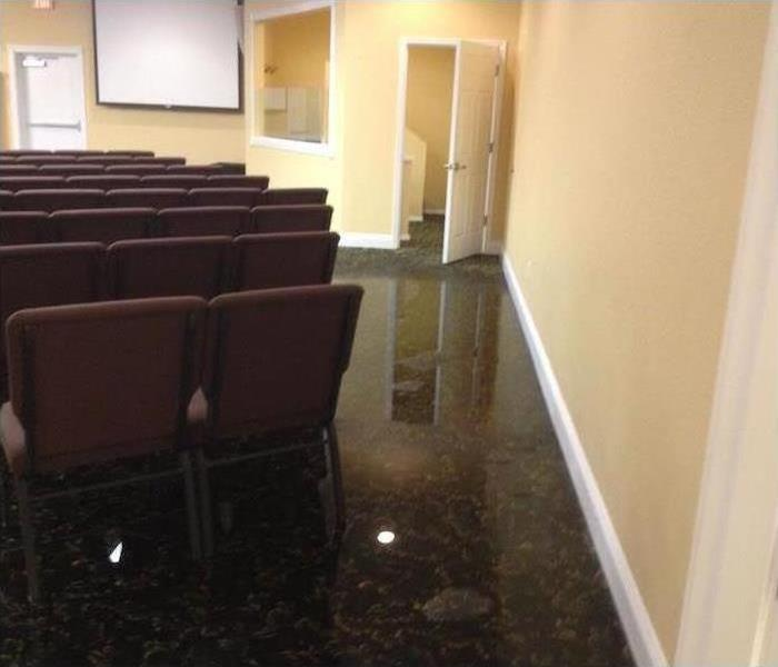 Commercial Water Damage – Jacksonville Before