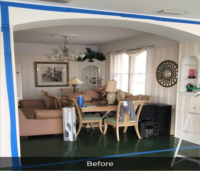 Jacksonville Beach Mold Remediation Containment--SERVPRO Can Help Before