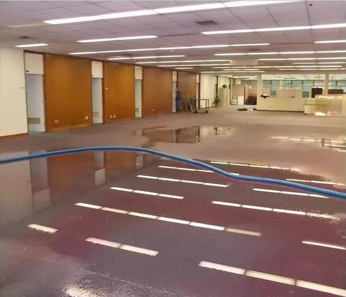 Jacksonville Commercial Water Damage Before
