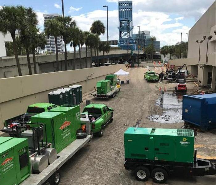 Hurricane Irma storm recovery in Downtown Jacksonville.