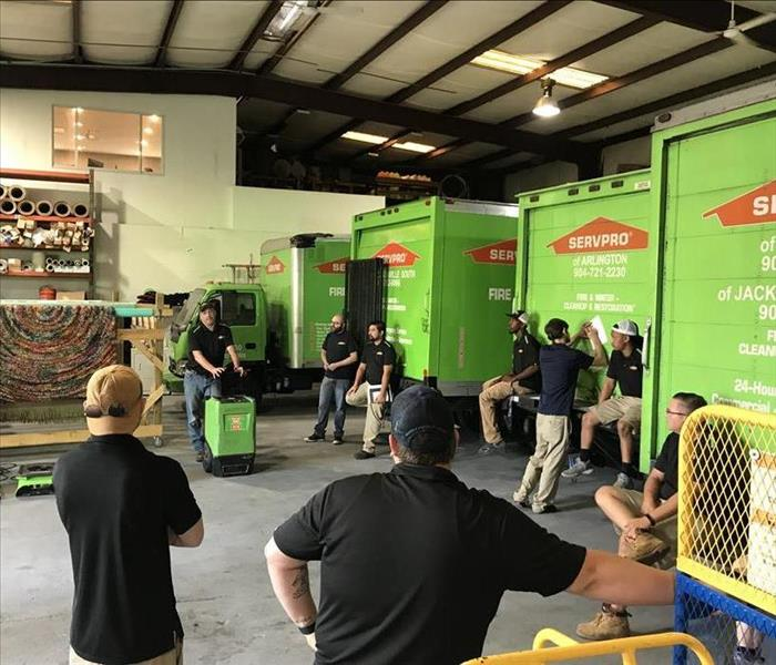 Why SERVPRO Water Damage emergency in Jacksonville on Christmas Eve