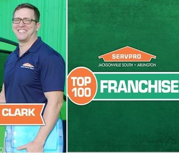 General SERVPRO of Jacksonville South & Arlington Was Named In the Top 100 Franchises in the Nation